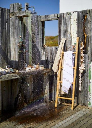 Håndklæde hamam VENA hvid/blå