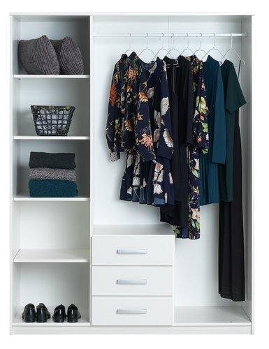 Garderob VINDERUP 150x200 kombi vit