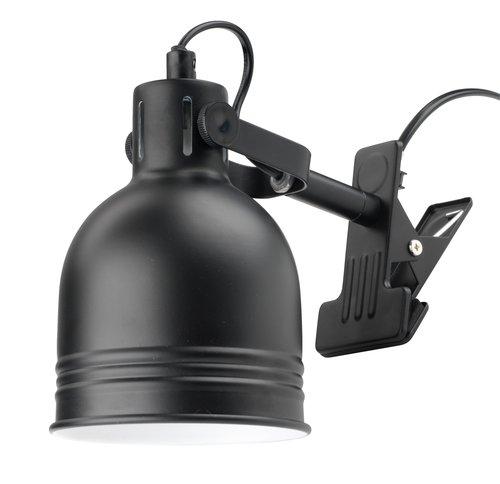 Lampă cu clemă THEODOR 11x14cm neagră