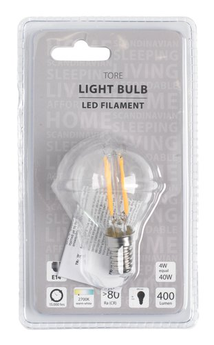 Glödlampa TORE 4W E14 LED 400 lumen