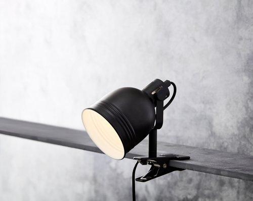 Lampa s klipem THEODOR Ø11xV14cm růz.