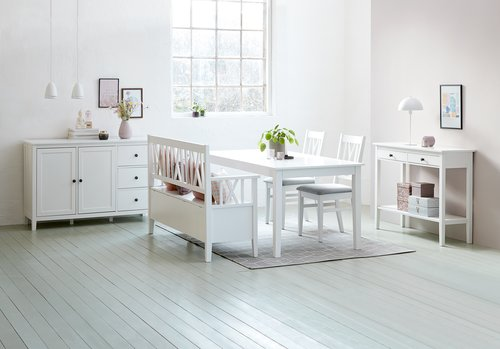 Dining bench NORDBY white