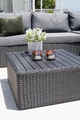 Záhradný stôl BASTRUP Š70xD70 čierna
