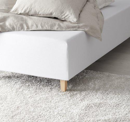 Cearsaf elastic 90x200x35cm alb KRONBORG