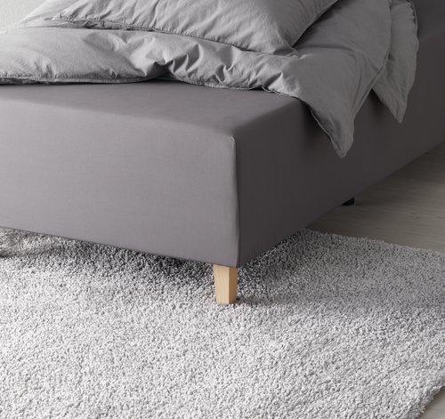 Cearsaf elastic 180x200x35cm gri