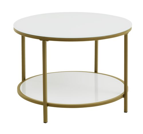 Coffee table GADEVANG D65 white/gold