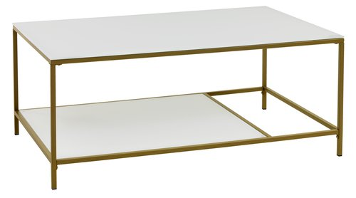 Soffbord PANDRUP 70x110 vit/guld