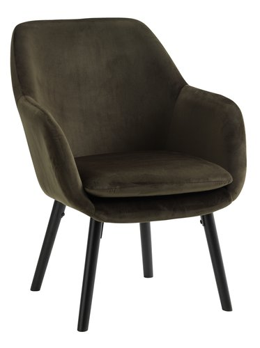 Fotelja UDSBJERG baršun tamno zelena