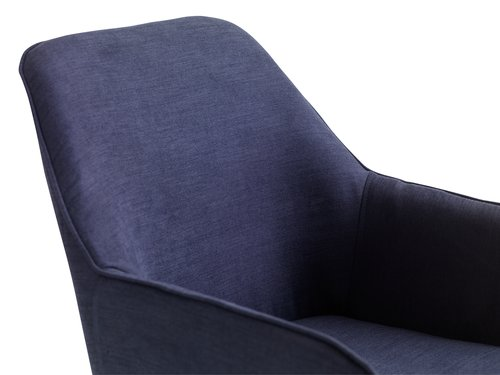Dining chair HADRUP dark blue/black