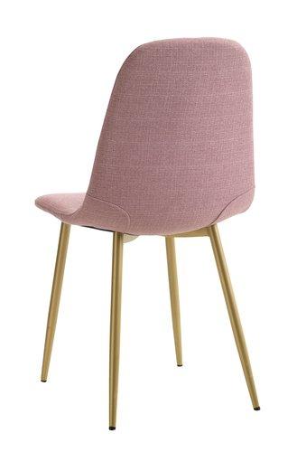 Matbordsstol JONSTRUP rosa/guld