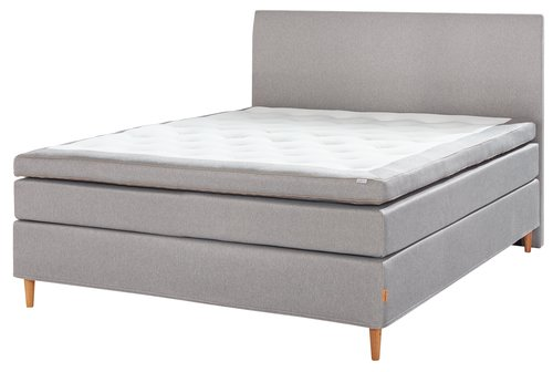 Sänggavel 180 GOLD H30 slät grå