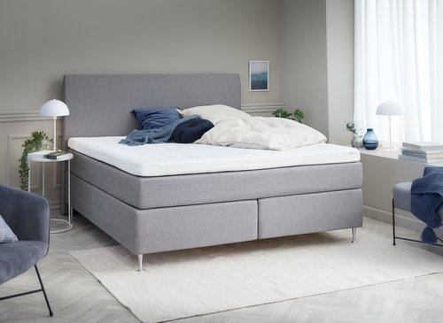 Sänggavel 160x125 H30 CURVE grå-29