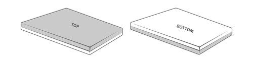 Laken 150x250 grå KRONBORG