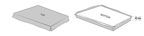 Kappelaken 150x200x45 grå KRONBORG
