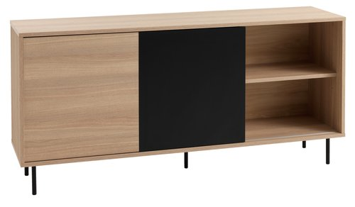 Sideboard FARSUND 2 door oak/black