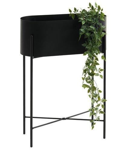 Blomsterbänk PADBORG svart
