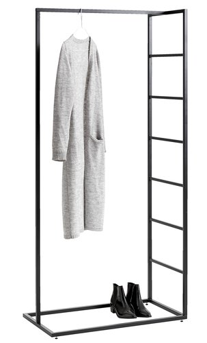 Clothes rail VIRUM black