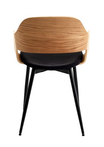 Cadeira jantar HVIDOVRE natural/preto