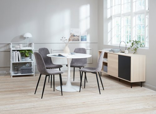 Eettafel RINGSTED Ø100 wit