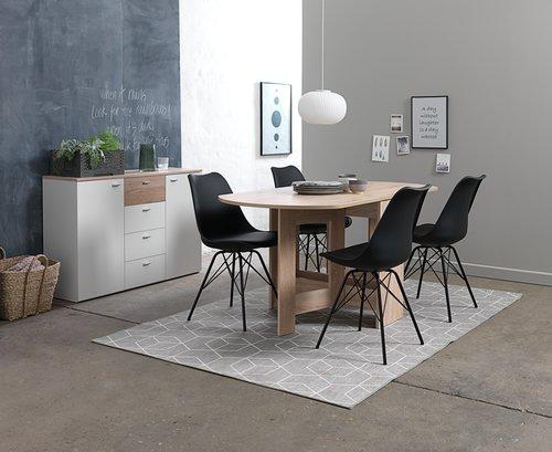 Dining chair KLARUP black/black