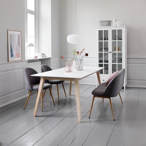 Spisebordsbænk KOKKEDAL grå/eg