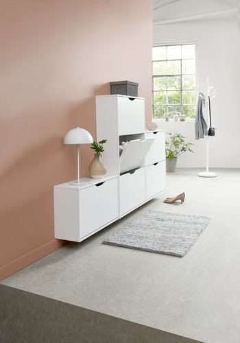 Shoe cabinet IDSKOV 1 compartment white