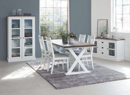 Τραπέζι τραπεζ. KALUNDBORG 90x180 καφέ
