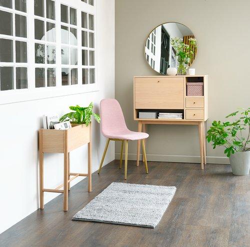 Ruokapöydän tuoli JONSTRUP roosa/kulta