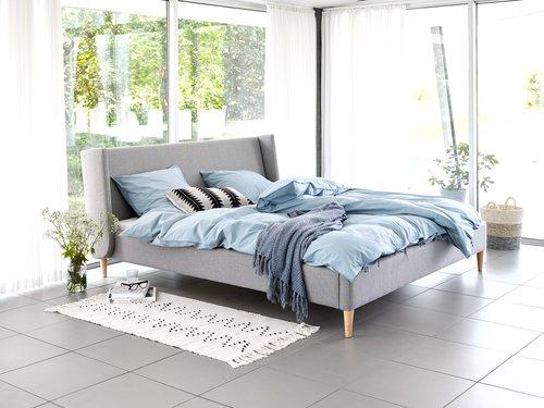 Rama łóżka KUNGSHAMN 140x200 jasnoszary