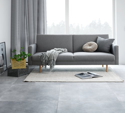 Sovesofa SANDBJERG lys grå