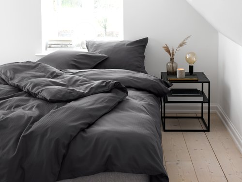 Duvet cover INGEBORG Sateen SGL grey