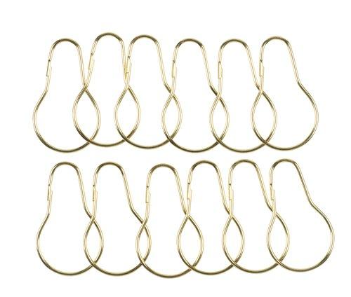 Shower curtain rings VARA 12pcs/pck gold