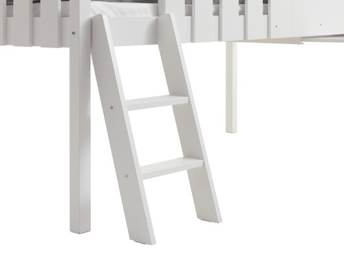 Low loft bed BAKHUSE SGL white