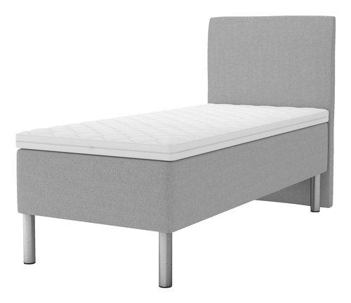 Sänggavel 90x125 H30 svängd grå-27