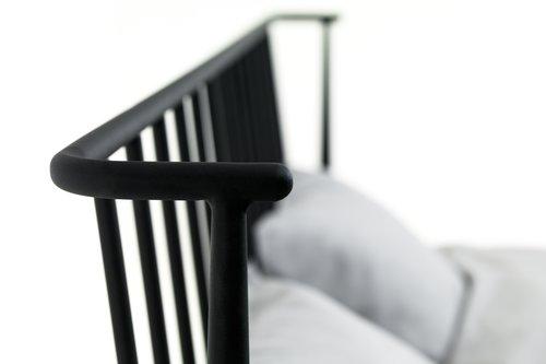 Bedframe ABILDRO 180x200 zwart