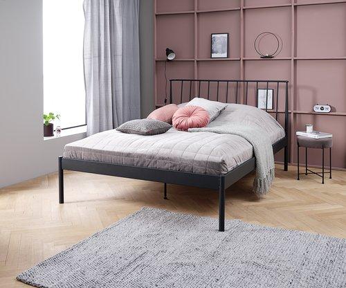 Bed frame ABILDRO SKNG black