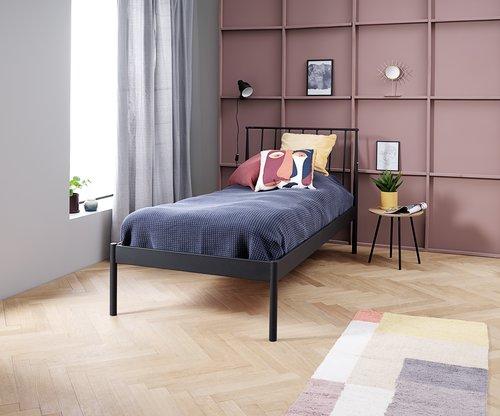 Rama łóżka ABILDRO 90x200 czarny