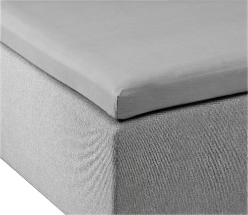 Overmadrasslaken 75x200x6-10 lys grå