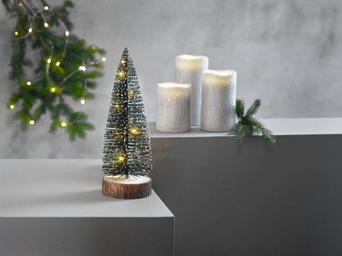 Candle LAVA white w/LED 3 pack