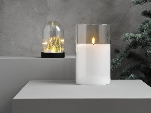 Lys LJUS Ø15xH25cm m/LED