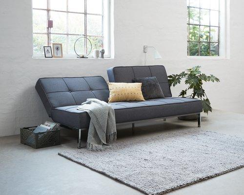 Canapea extensibilă OREVAD gri închis