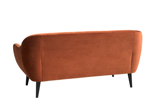 Sofa EGEDAL 2.5-seater velvet orange