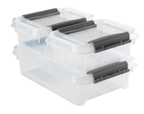Škatla PROBOX s pokrovom 3 kosi prozorna