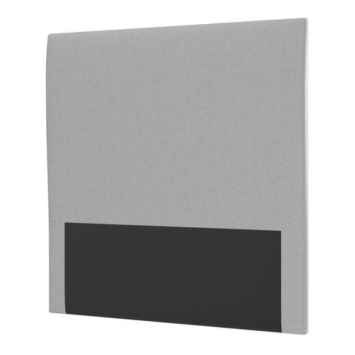 Sengegavl PLUS H60 120x115 plain sølvgrå