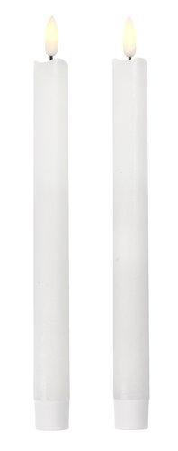 Vela p/castiçal CALLE A25cm c/LED 2uds