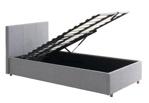 Okvir kreveta EGERSUND 90x200 svj.siva