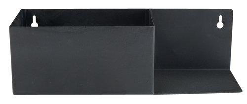 Polica KOLSVA Š10xD30xV9cm crna