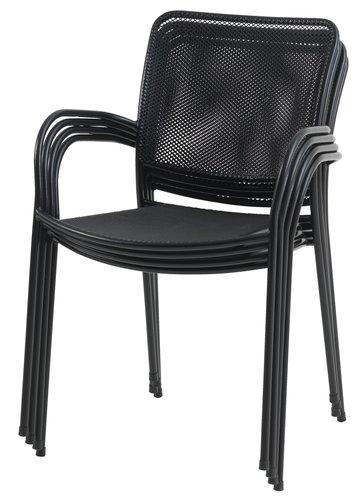 Καρέκλα στοιβαζ. JERSHAVE μαύρο