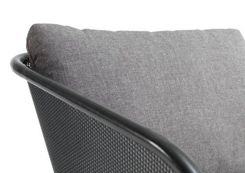 Loungeset LARVIK 4 pers. grijs