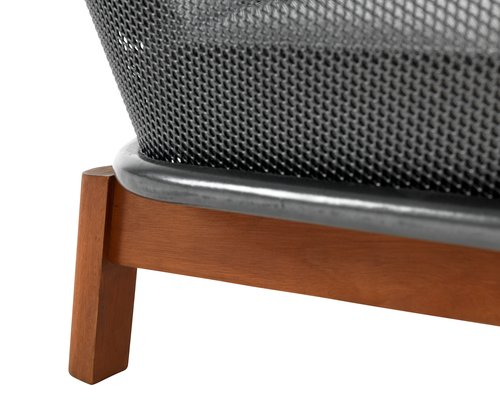 Loungeset LARVIK 4-sits grå